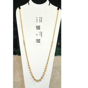 916 Gold Hallmark Antique Pendant Chain