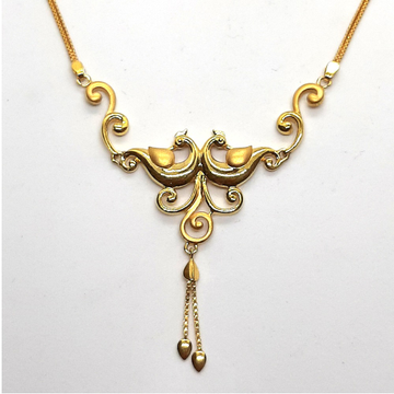 Plain Gold Necklace Set SK-N004 by