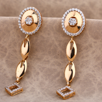 750 Rose Gold Gorgeous Women's CZ Earring RE183