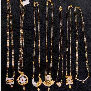 22 carat gold fancy daimand mangalsutra RH-MS626