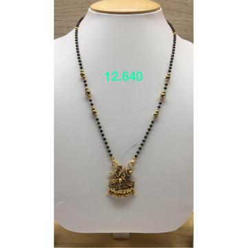 22Kt Gold Antique Radha Krishna Design Mangalsutra IO-M10