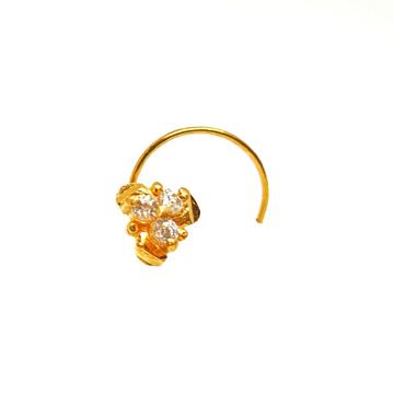 18K Gold Designer Nosepin MGA - GN006