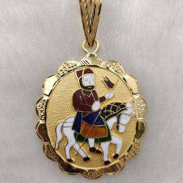 916 Gold Fancy Gent's Ramdev Pir Pendant