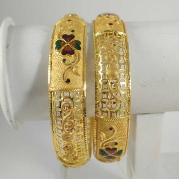22 K Gold Meenakari Patla. NJ-B0246