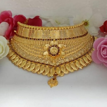 22 ct gold choker set antiqe design
