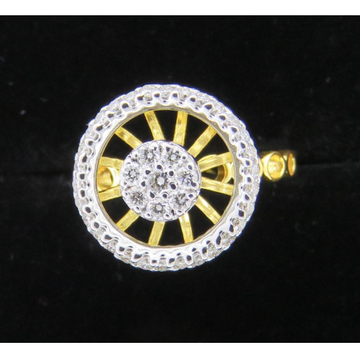 Gold Round Shape Diamond Ring KJ-R12