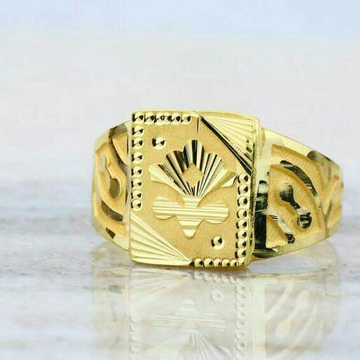 Gold Casting Gents Ring 916