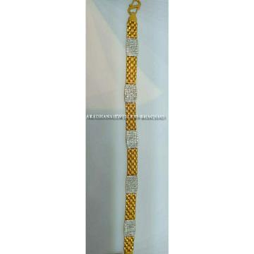 22KT Studded Diamond Gents Bracelet