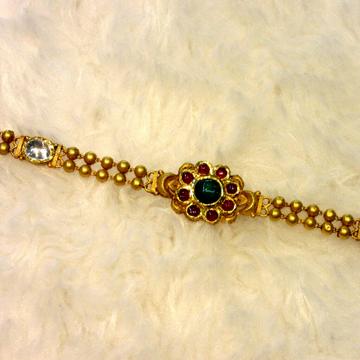 22k Hallmark Jadtar Antique Bracelet by