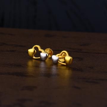 Ladies 22k Gold Plain Earring -LPE153