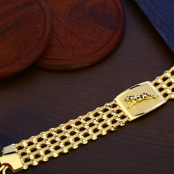 Mens Gold Bracelet-MPB101