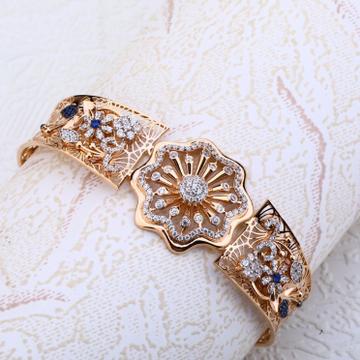 Ladies kada bracelet cz Rosegold 18 Ct by