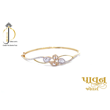 18KT yellow Gold CZ Diamond Bracelets For Ladies K... by
