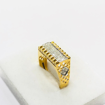 22kt, 916 hm, yellow gold High end bridge design ring for men jkr218