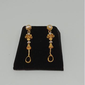 916 Gold Designer Earring MJ-E005