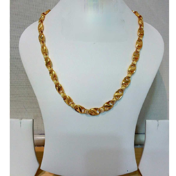 916 Gents Fancy Gold Lotus Chain G-6414