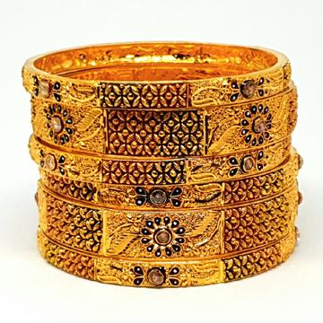 One gram gold forming calcutti kada bangles mga - bge0087