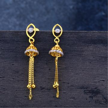 Ladies 916 Gold Jummar Traditional Earrings -LJE123