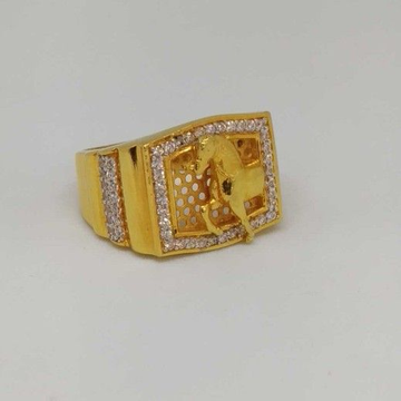 22 Kt Gold Gents Branded Ring by