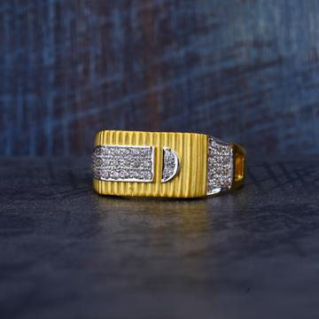 Gold Cz 916 Mens Ring-MR166