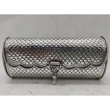 Maanniya Pure Silver Handbag in Snake Skin Texture