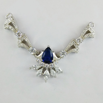 92.5 Sterling Silver CZ Mangalsutra Pendant ml-32