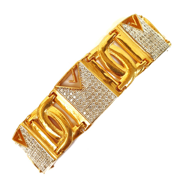 One gram gold plated cz diamond bracelet mga - bre0023