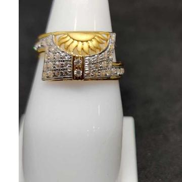 22k Gents Fancy Gold Ring Gr-28601