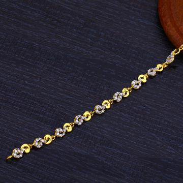 22K Gold Cz Diamond Bracelet-LB182
