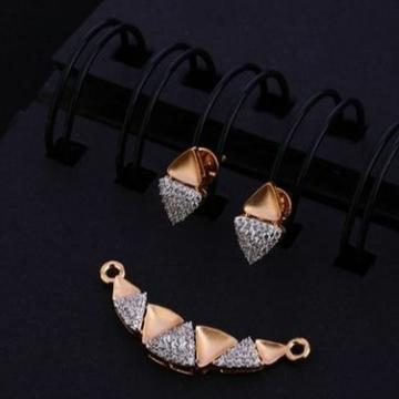 18 carat rose gold classical ladies pendants set RH-PS452