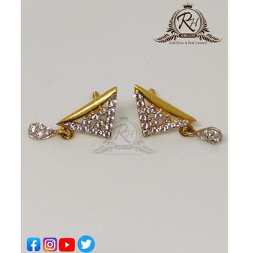 22 carat gold triangle daimond butti RH-ER88