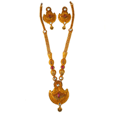One gram gold forming necklace set mga - gfn0018