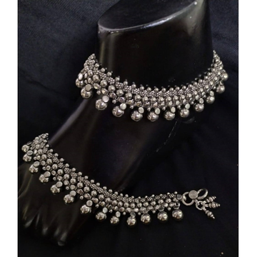 925 Pure Silver Antique Payal Handmade PO-208-18