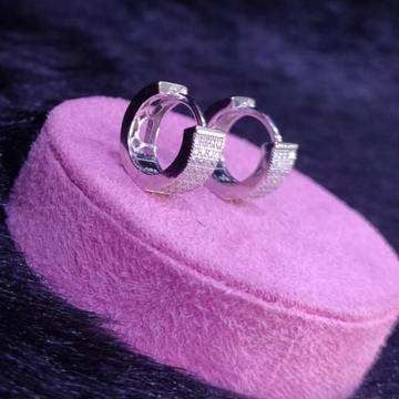 92.5 Sterling Silver Affinity Cz Fancy Earrings For Women