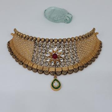 Antique Kundan Choker Set stu/66/2 by
