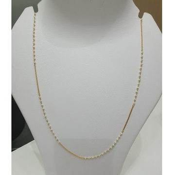 18k gold moti chain by