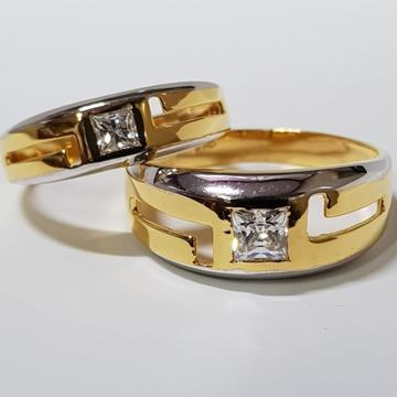 22 CT GOLD COUPLE RING SINGLE DIAMOND