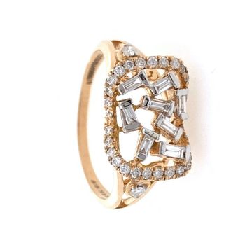 18kt / 750 Rose Gold Party Wear Diamond Ladies Ring 9LR254