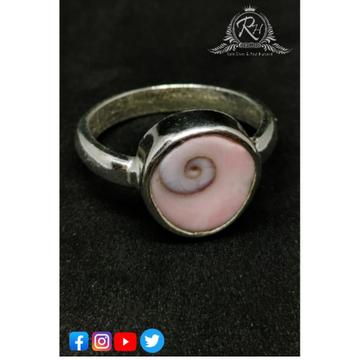 Silver gumti chakra stone rings rh-rb369