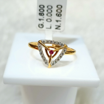 22 kt triangle shape fancy ring by
