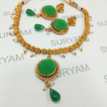 Antique Jadtar Work Necklace Set