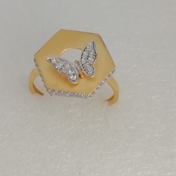 916 gold butterfly design fancy ladies ring by Vinayak Gold