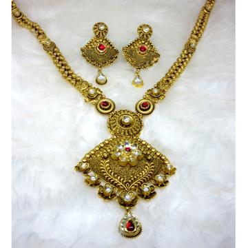 Gold hm916 rajwadi antique jadtar long set