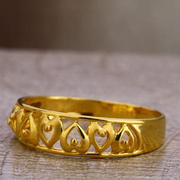 750 Plain Gold Women's Hallmark Ring LPR467