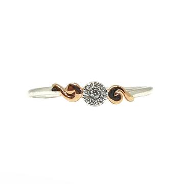 18k white gold real diamond ring mga - rdr007