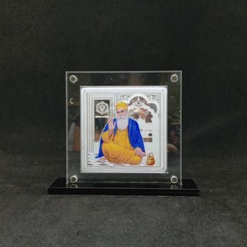 real Silver Designer Coin of Guru Nanak Dev ji in Color Printing