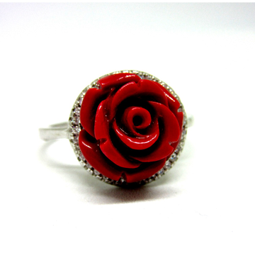 Silver 925 rose meena rare design ring sr925-48