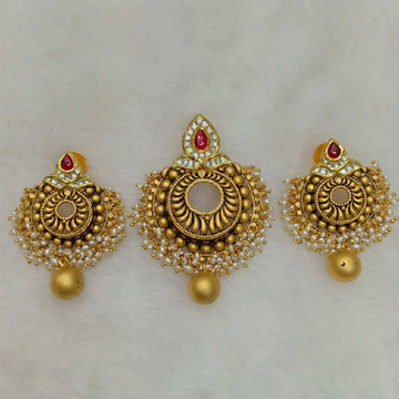 22KT Gold Antique Pendant Sets Aps-010