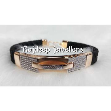18KT Rosegold Leather Bracelet