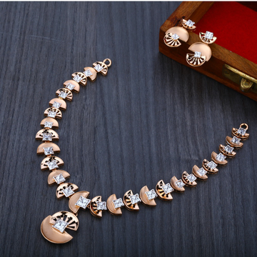 750 Exclusive  Rose Gold  Women's Necklace Set RN11